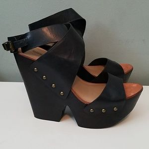 BCBGMaxAzria wedge heels